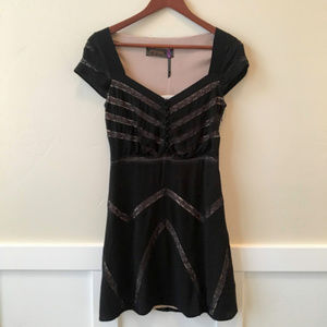NWT Free People Black Lace Elle Mini Dress